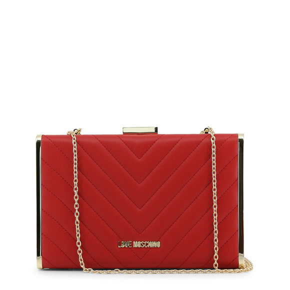 d4e558097b Love Moschino Bags | Red Leather Clutch Bag | Poshmark